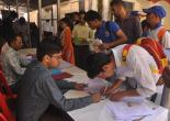 Candidate registring for Job Fair conducted at MCC,Dehradun dated 10.Oct.2017
